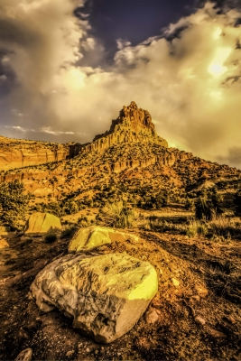 Stormy Sunrise At The Castle Capitol Reef Nationa Lpark