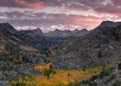 Autumn Sunset, Sabrina Basin
