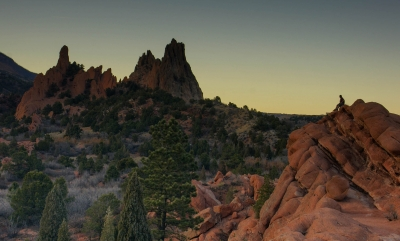Sunset In Garden Of The Gods
