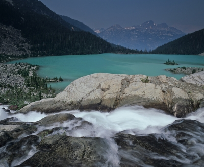 Waterfall And Upper Joffre Lake