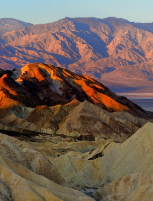 Morning Sunrise At Zabriskie Point