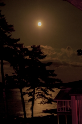 Moonlight Over Lake Winnipesaukee