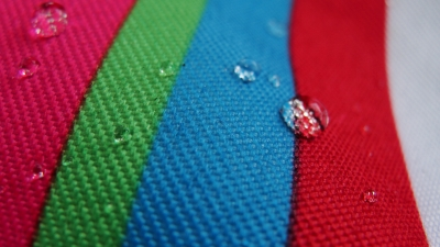 Water Beads On The Blanket