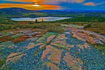 Sunset In Acadia, Acadia National Park