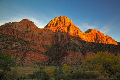 Sunset On The Rocks Of Zion National Park