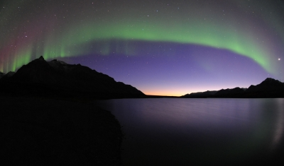 Northern Lights Over Lake Elenor