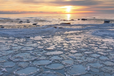 Pancake Ice On Lake Huron