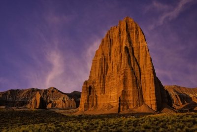 Sunrise At Temple Of The Moon & Sun Capitol Reef National Park