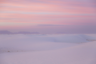 Dusty Rose Sunset At White Sands