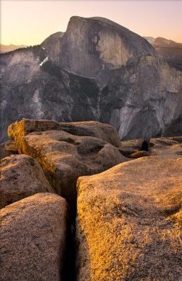 Halfdome At Sunrise
