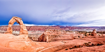 Panoramic View Of Delicate Arch