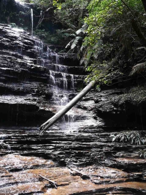 Junction Falls At Lawson In The Blue Mountains, Nsw