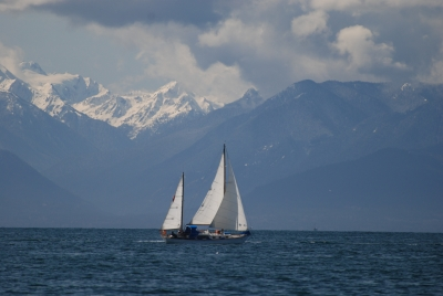 Olympic Mountains Sail Past.