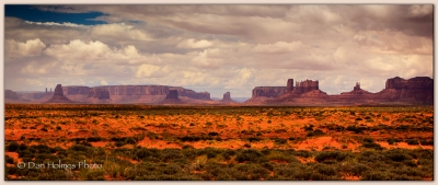 Cloud-light At Monument Valley