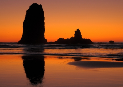 Sea Stacks On Fire