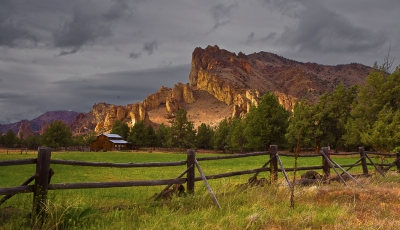 Oregen, Smith Rock State Park, Sunset