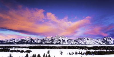 Sunrise Over Tetons