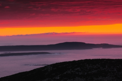 First Light From Cadillac Mountain