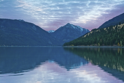 Delicate Sunset At Wallowa Lake