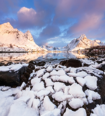 Morning At Reine