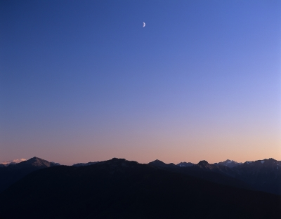 Moon Over The Olympic Range