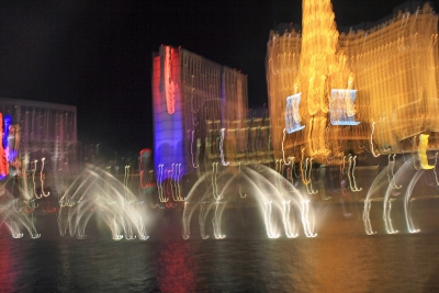 Bellagio Falls, Las Vegas Abstract