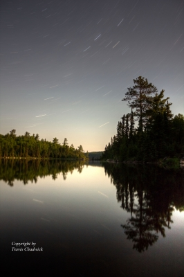 Star Trails Over Shell Lake, Bwcaw