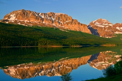 Montana, Glacier National Park, Many Glaciers, Lake Sherburne, Reflection