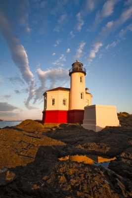Morning Light At Coquille River Lighthouse