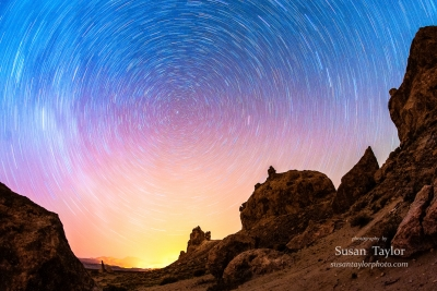 Trona Pinnacles Glimmering Star Trails