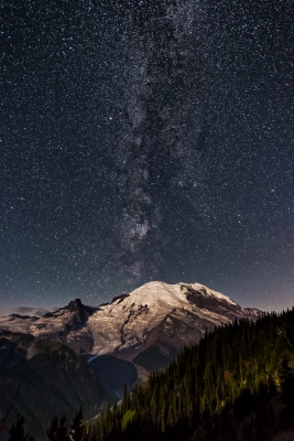 Milky Way On Mt. Rainier