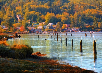 Sunrise, Waterfront Village Of Wheeler, Oregon