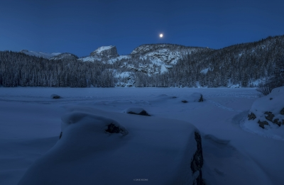 Bear Lake Moonset