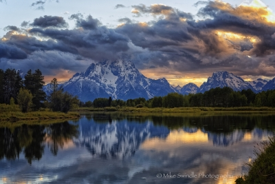 Sunset At Oxbow Bend