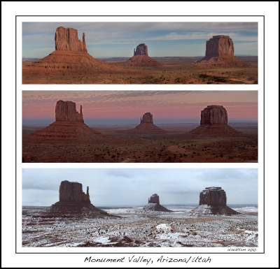 Three Views Of Monument Valley