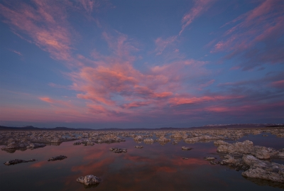 Mono Lake Tufa Islands From Black Point At Sunset 3-11