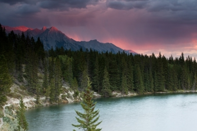 Alpenglow In Banff National Park