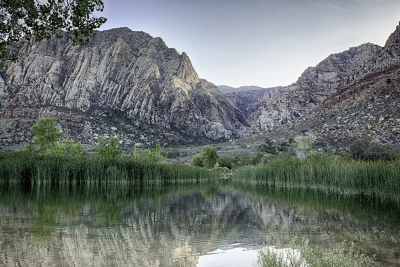 Spring Mountain Ranch Park Pond At Sunset