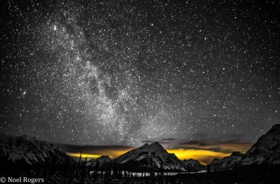 The Milky Way Over The Rocky Mountains