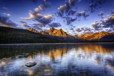 Sunrise On Mcgown Peak & Stanley Lake Sawtooth Mountains Idaho