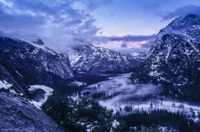 Sunset & Storm Clouds Over Yosemite Valley