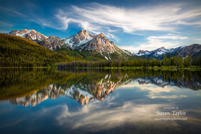 Sawtooth Range Morning Reflection