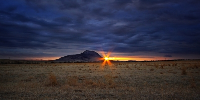 Stormy Bear Butte Sunset