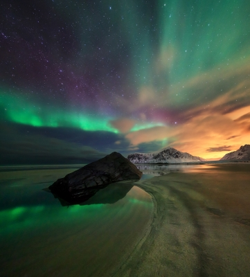 Green Fire Of The Lofoten Sky