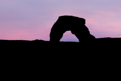 Delicate Arch At Dusk