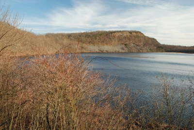 Black Pond In Late Fall