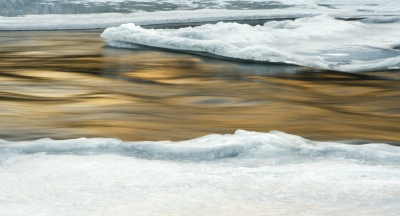 Golden Water, Snow & Ice