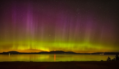 Northern Lights Over The San Juan Islands