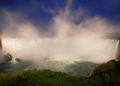 The Horseshoe Falls In White And Blue, Niagara Falls