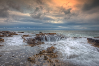 Stormy Sunset At Thor's Well